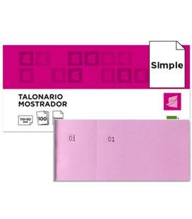 Talonario mostrador 50x110 mm tl11 rosa con matriz liderpapel 21852 - 21852