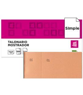Talonario mostrador 50x110 mm tl10 naranja con matriz liderpapel 21853