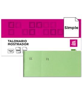 Talonario mostrador 50x110 mm tl12 verde con matriz liderpapel 21854