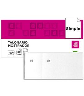 Talonario mostrador 50x110 mm tl09 blanco con matriz liderpapel 21912