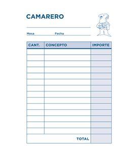 Talonario camarero bolsillo original t150 liderpapel 23337 - 23337