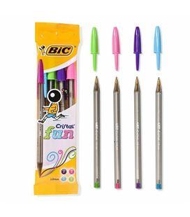 Boligrafo boli cristal fun 4 colores blister bic 8957921 27209