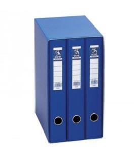 Modulo 3 carpetas 2 anillas fº 40mm azul oficolor dohe 09455