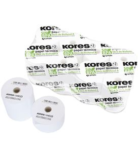 Papel termico rollo 57x60 s/bisf 10 unidades kores grafoplas 56654600 - 56654600