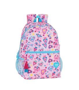 Mochila backpack adap carro vmb corazones safta 612036387 - 612036387