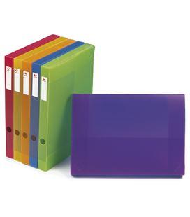 Carpeta proyecto folio 3cm polipropileno violeta grafolioplas 37231235