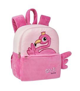 Mochila peluche guardera flamingo safta 641980232 - 641980232