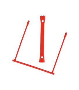 Encuadernador fastener plastico d-clips rojo 100 und q-connect 51871