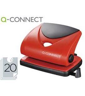 Taladro 2 agujeros 20 hojas rojo q-connect 31638 kf02156 - 31638