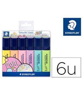 Marcador fluorescente estuche 6 colores pastel staedtler 364 cwp6 04984