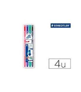 Rotulador triplus brilliant colours 4u. staedtler 338 sb4 - 338 SB4