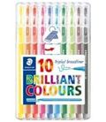 Rotulador triplus brilliant colours 10u. staedtler 338 sb10