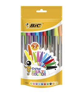 Boligrafo boli cristal multicolor 8colores+2 fluor blister bic 943437 460089
