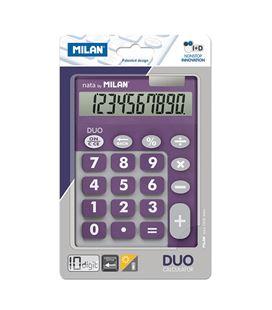 Calculadora 10 dig touch duo morado blister milan 150610tdprbl