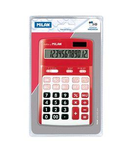 Calculadora 12 dig roja blister milan 150712rbl