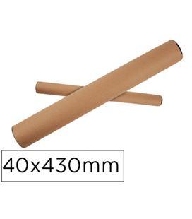 Tubo portaplanos carton 40mmx430mm q-connect kf17771 - 74316