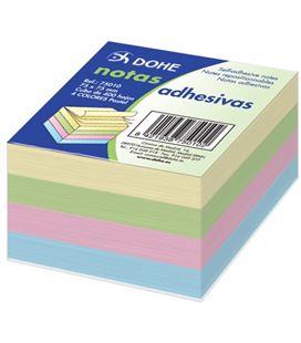 Notas adhesivas 75x75 5 colores pastel 400h dohe 75010