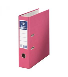 Archivador palanca fº 70mm rosa claro archicolor dohe 90212