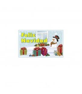 Etiqueta rollo felices fiestas 250u. arguval 130 37527 - 37527
