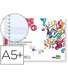 Cuaderno espiral 4º apaisado 5 pentagramas liderpapel 53896 bm08