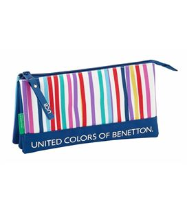 Estuche vacío triple bennetton color lines safta 811828744 - 811828744