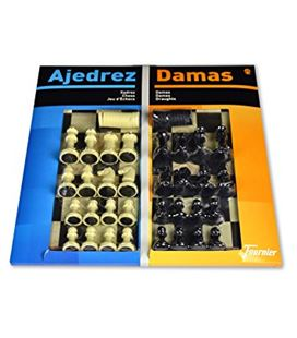 Tablero grande 40x40 ajedrez/damas + accesorios foliournier 29459 - F29459