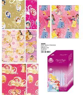 Papel regalo 70cmsx2mts princesas surtido montichelvo 30458