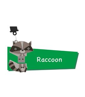 Memoria usb 16gb raccoon cartoon pryse 90053 - 90053