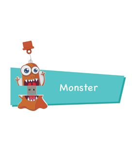 Memoria usb 16gb monster cartoon pryse 90054 - 90054