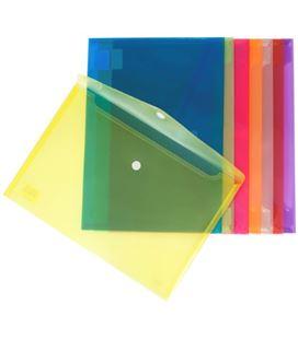 Sobre velcro folio polipropileno translucido azul grafolioplas 04872230 - 04872230