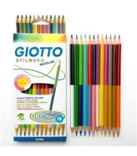 Pintura madera stilnovo bicolor 12unidades/24 colores giotto 256900