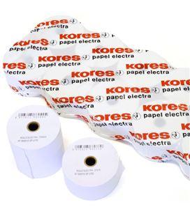 Papel electra rollo 76.5mmx60mts 10 unidades kores grafolioplas 66622400 - 66622400