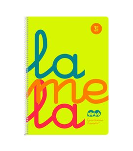 Cuaderno fº 3mm 80h 90g tapa plastic amarillo fluor lamela 7ftp003a