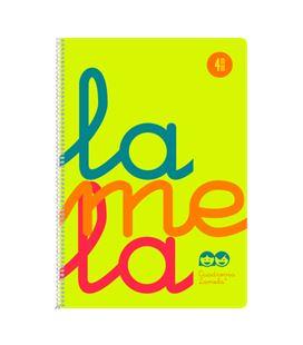 Cuaderno fº 4mm 80h 90g tapa plastic amarillo fluor lamela 7ftp004a