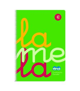 Cuaderno fº 4mm 80h 90g tapa plastic verde fluor lamela 7ftp004v - 7FTP004V