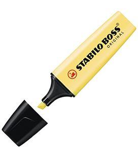 Marcador fluorescente amarillo pastel boss original stabilo 70/144