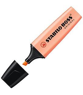 Marcador fluorescente naranja pastel boss original stabilo 70/126