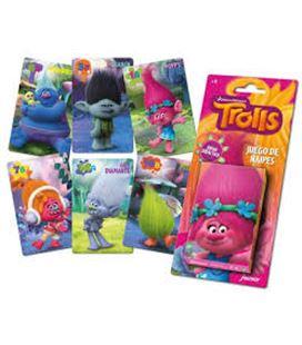 Baraja infantil 40 cartas poppy trols foliournier 1034791 - 56308