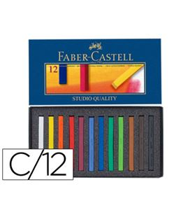 Tiza pastel 12 colores colores faber-castell 128312 - 75343