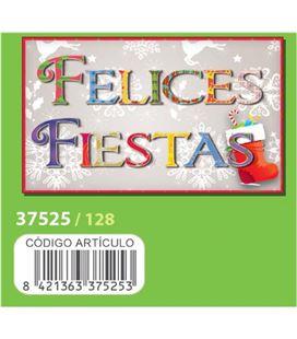 Etiqueta rollo felices fiestas 250u. arguval 128 37525