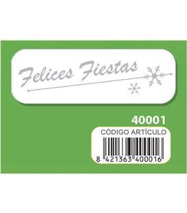 Etiqueta rollo felices fiestas 250u. arguval 40001