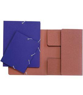 Carpeta gomas solapa folio azul brillo grafolioplas 04911230