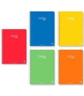 Cuaderno fº liso 80h 90grs tapa dura surtido pacsa 16288
