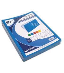 Subcarpeta folio 180grs azul c.50 grafolioplas 00017536