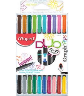 Rotulador 04 punta fibra duo graph´peps 20 colores maped 749251