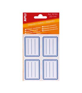 Etiqueta adhesiva 38x50 en color azul 20unidades apli 10195