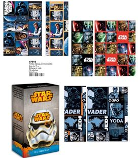 Papel regalo 70cmsx2mts star wars montichelvo 47609 / 47610 - 47610 COPIA COPIA