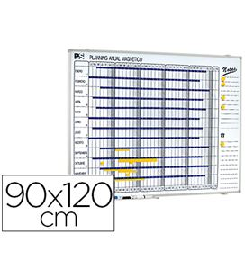 Planning magnetico anual 90x120cm planning 1000/50