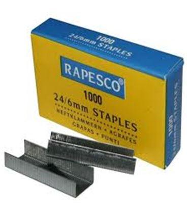 Grapa 22/6-24/6 standard galvanizada rapesco 9fs24607z3 025096 - 9FS24607Z3