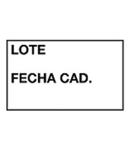 Etiqueta marcadora 26x16 removible lote fecha caducidad pack. 6 apli 101950 - 101950